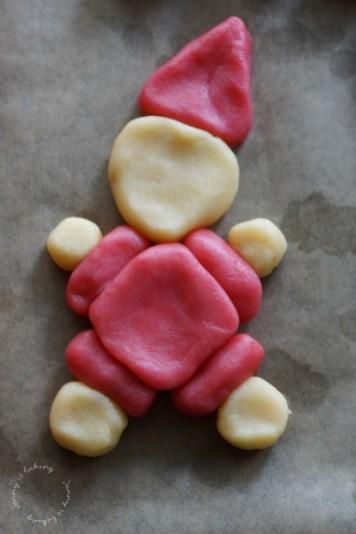Süße Nikoläuse aus Mürbeteig