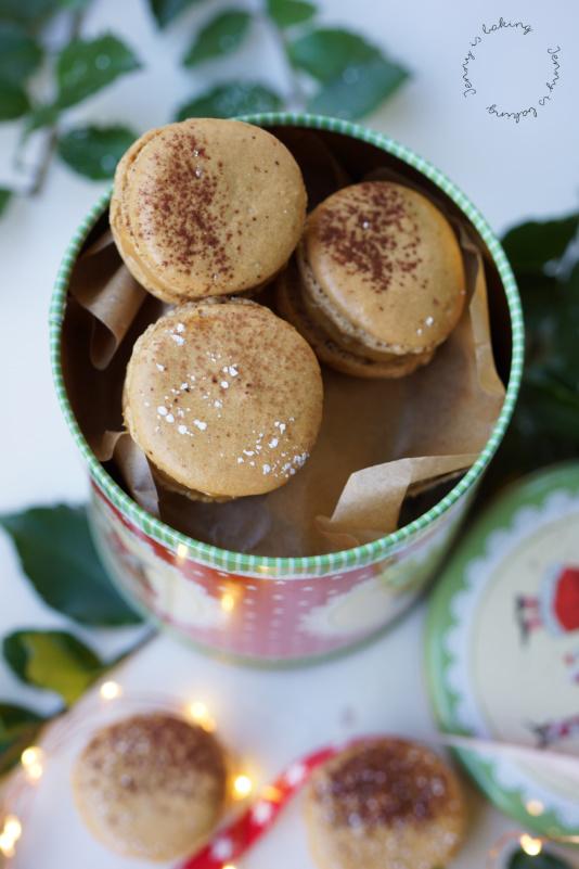 Kaffee-Macarons mit dulce de leche