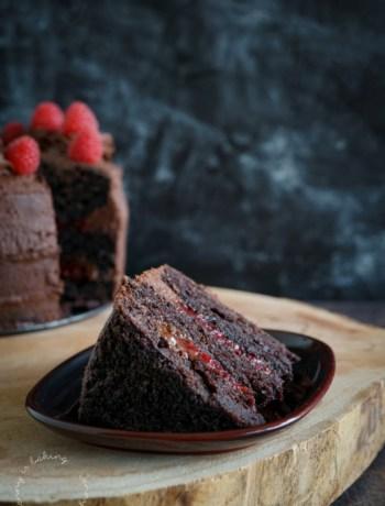 Vegane Schoko-Himbeer-Torte