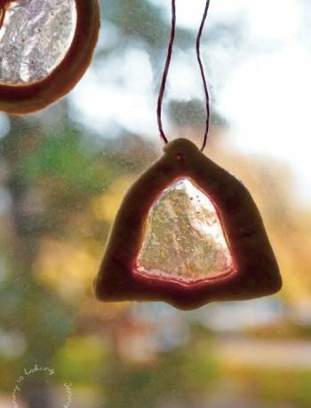 Fensterglas-Plätzchen