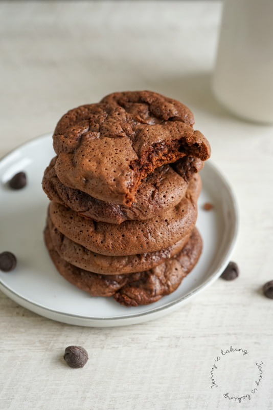 Brownie-Cookies mit Sauerteig