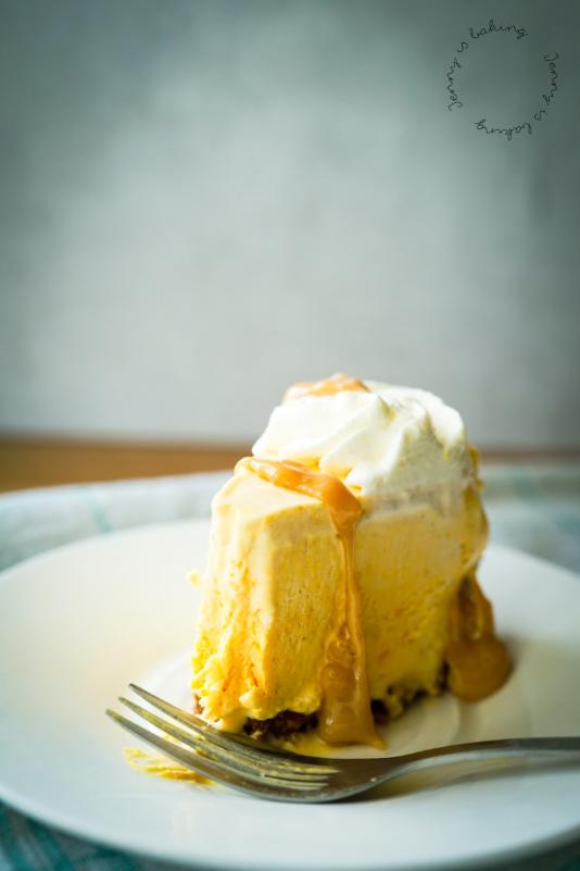 Kürbismousse-Karamell-Torte
