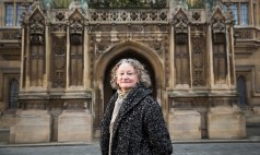 Jenny Jones outside the House of Lords