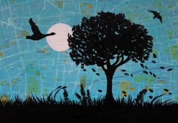 Jenny Leonard London Parks Painting 28 x 40cm