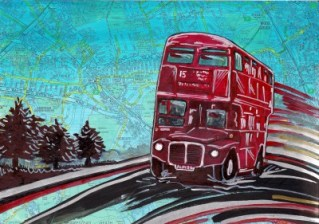 London Bus Painting