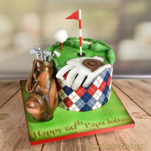 Golf 60th Birthday Cake