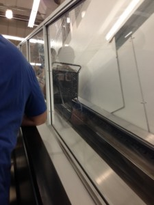 I was super amused that Bed Bath & Beyond had escalators just for the shopping carts.