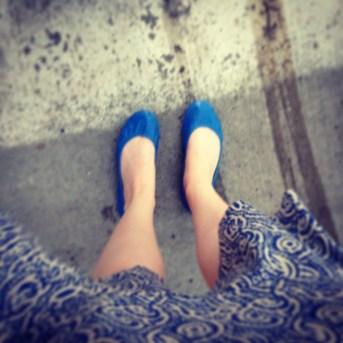 The first time I wore my Cobalt Blue Tieks.