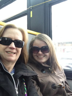 I took her on a NYC bus - her first time on a public bus since the 80's!