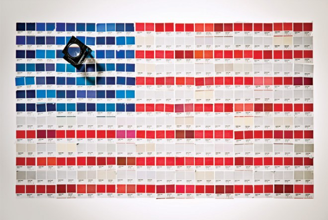 american flag paint swatches fourth of july