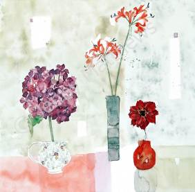 Crimson Dahlia print