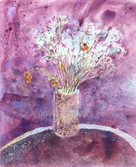 The Colour Purple, 65 x 55cm, watercolour on paper, framed price £1,850