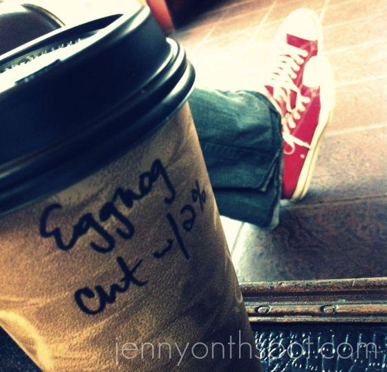 eggnog latte with my man
