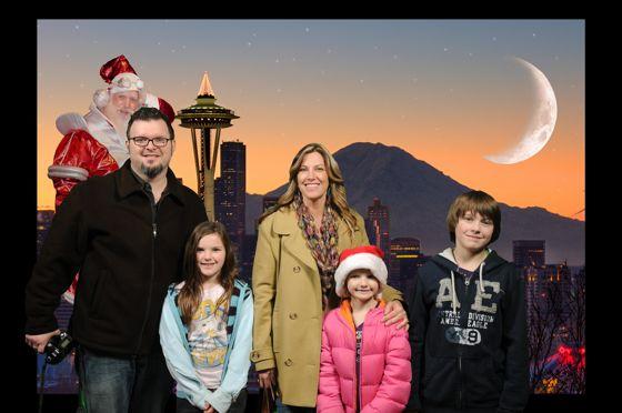 Photo Bomb with Santa