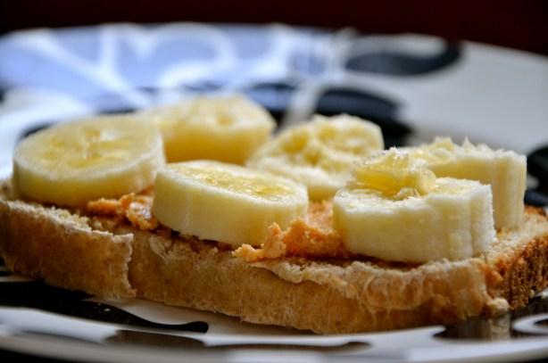 toast, peanut butter, and banana