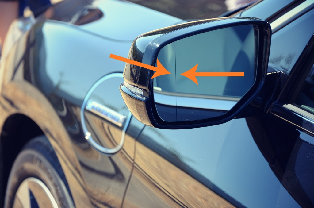 expanded view driver's mirror
