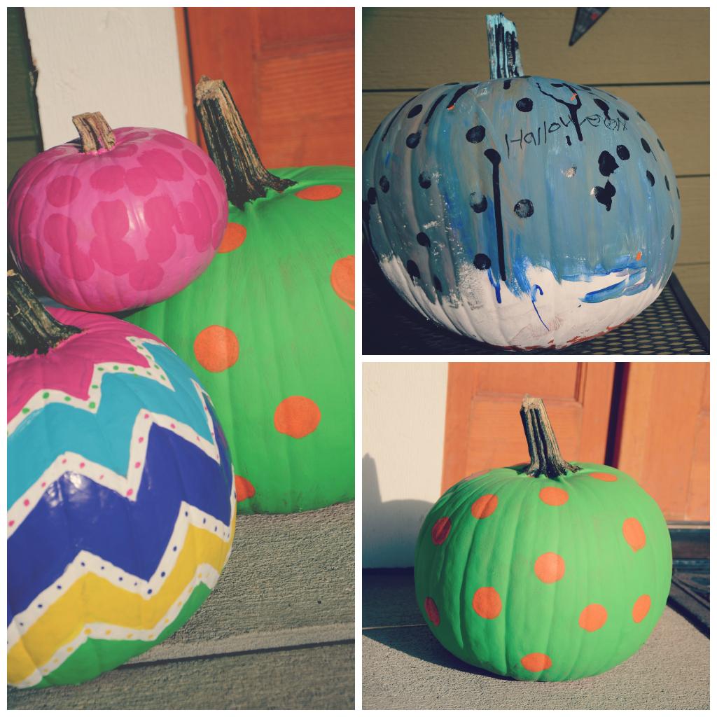 Painted pumpkins via @jennyonthespot   jennyonthespot.com