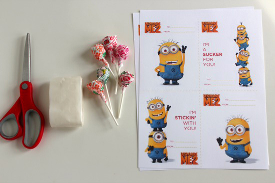 Despicable Me 2 Valentine by @MakeandTakes