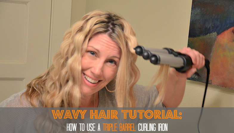 triple barrel curling iron tutorial via @jennyonthespot