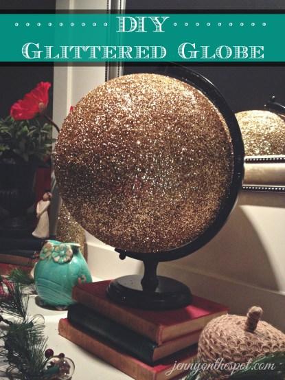 DIY Glittered Globe via @jennyonthespot