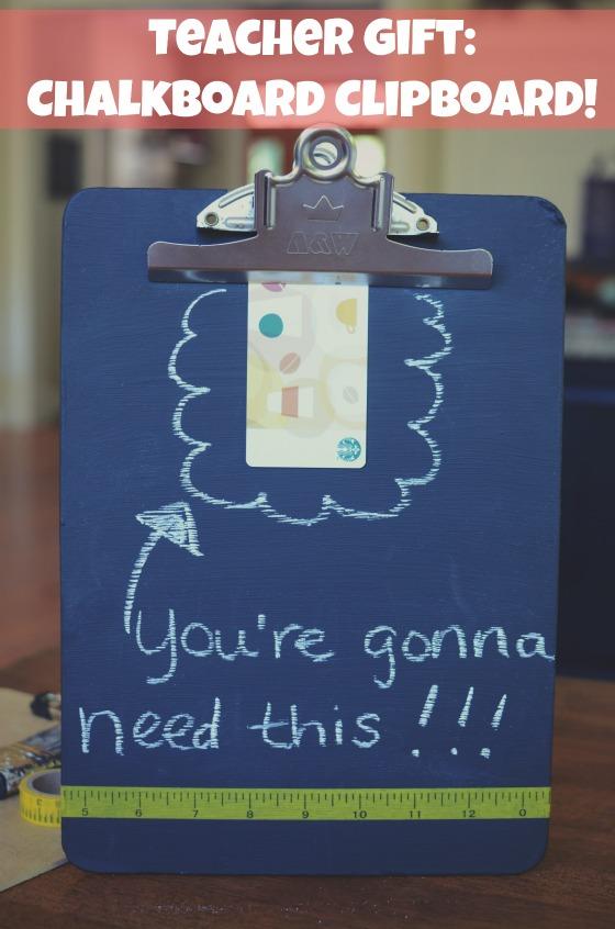 Thrifted clipboardturned chalk clipboard for teachervia @jennyonthespot