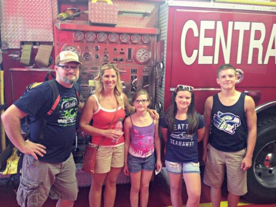 fire trucks at the Washington State Fair