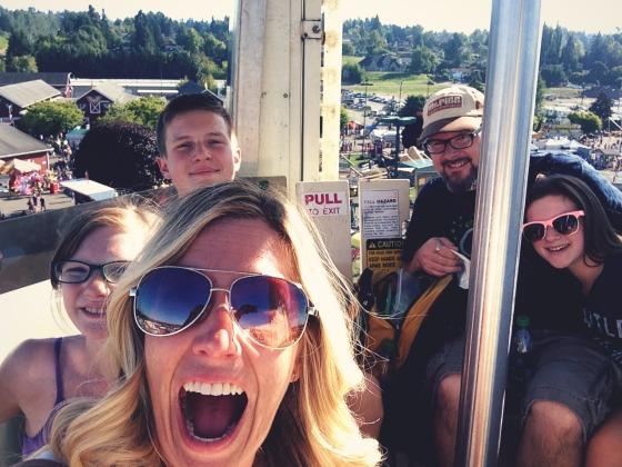 family selfie at the Washington Sate Fair