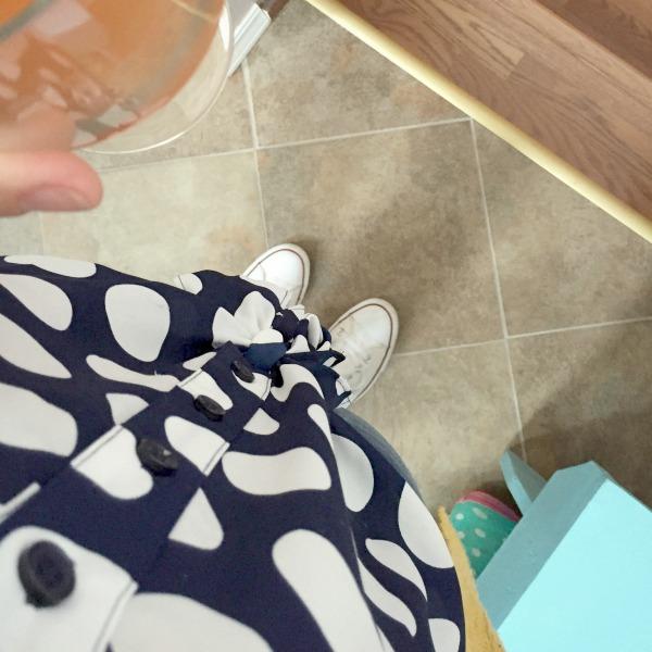 polka dot top from Macy's