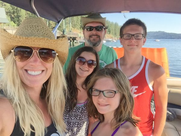 family on vacation... on a boat!