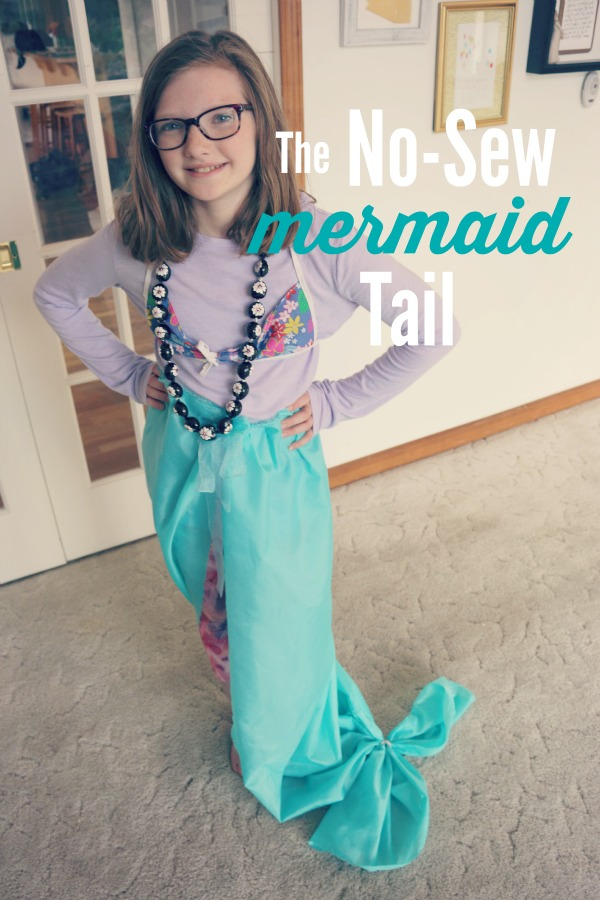 The no-sew mermaid tail (and costume!)