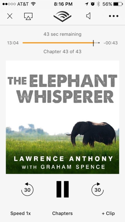 My summer reading list - The Elephant Whisperer