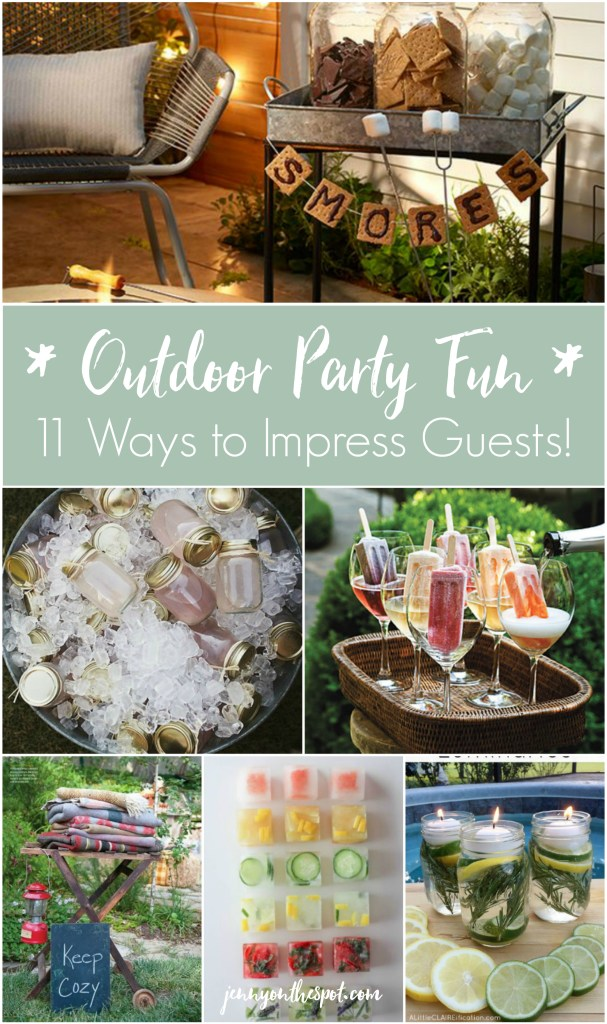 11 Ways to Impress Guests at Your Outdoor Party via @jennyonthespot