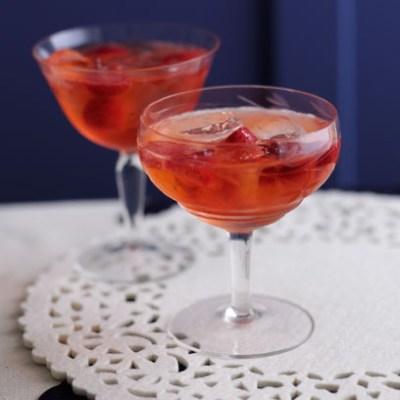 Pink Gin Fizz via redonline.com