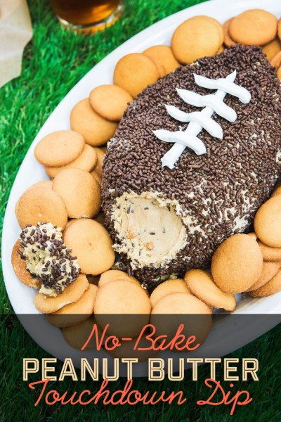 15 Super Bowl Party Recipes: No-bake Peanut Butter Touchdown Dip