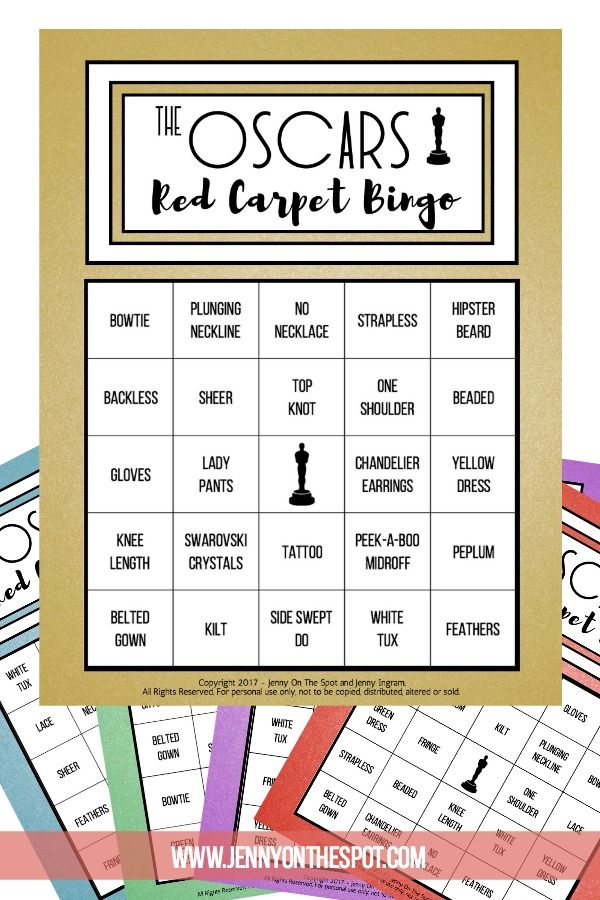 Oscars Red Carpet Bingo