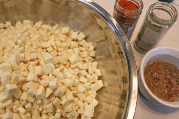 diced sweet potatoes