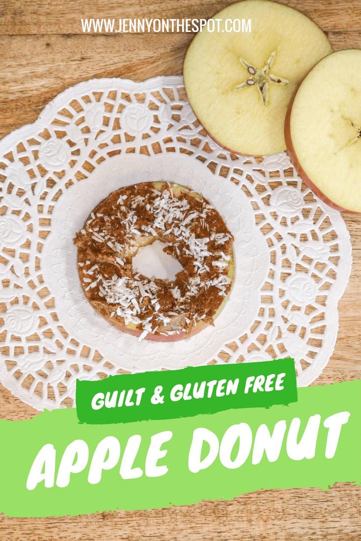Guilt Free and Gluten Free Apple Donut from Jenny On The Spot