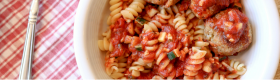 Barilla Rotini and Barilla Tomato & Basil Sauce loaded with veggies