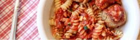 Barilla Rotini and Barilla Tomato & Basil Sauce loaded with veggies