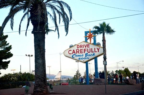 Sign leaving Las Vegas