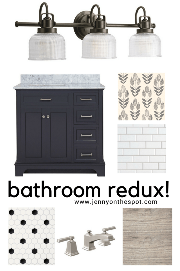 Bathroom remodel concept board | Jennyonthespot.com