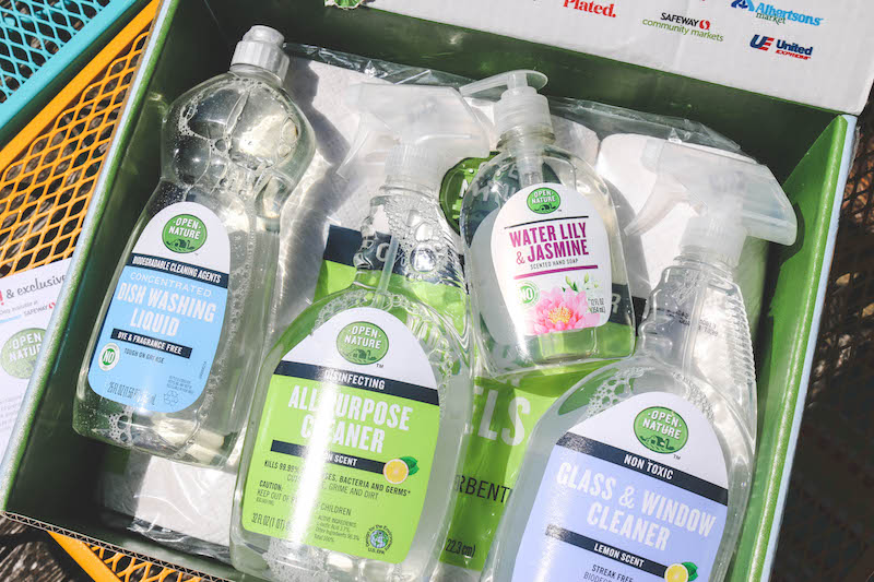 Open Nature Products for Spring Cleaning, available at Safeway!