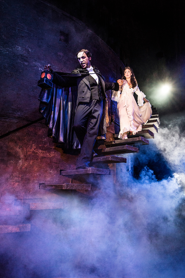 THE PHANTOM OF THE OPERA - Quentin Oliver Lee and Eva Tavares - photo Matthew Murphy