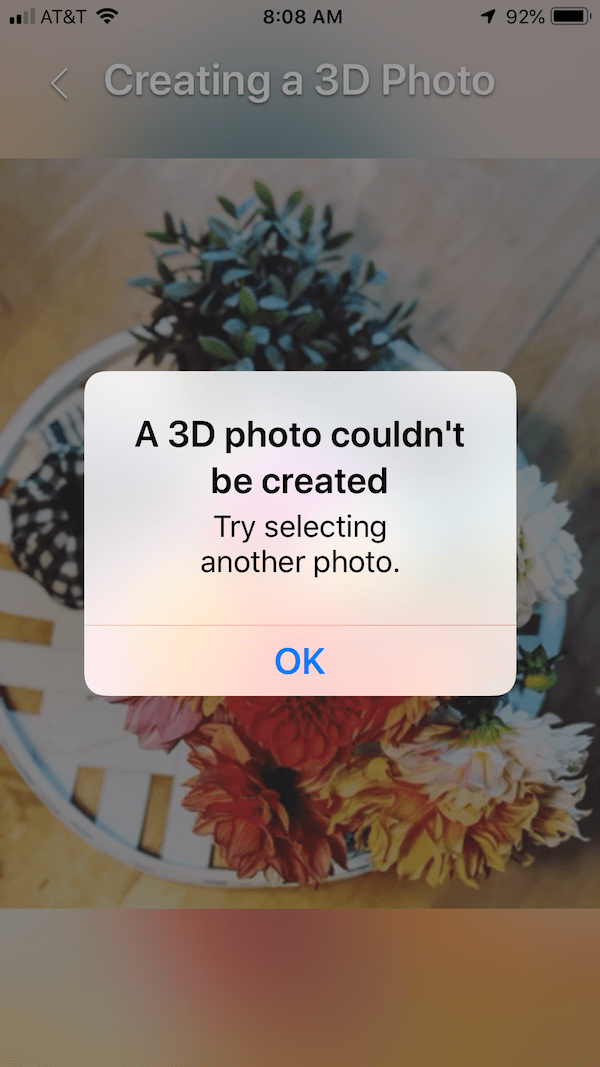 How To Post 3D Photos To Facebook - regular photo