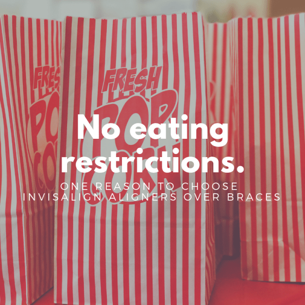No Eating Restrictions - Invisalign treatment