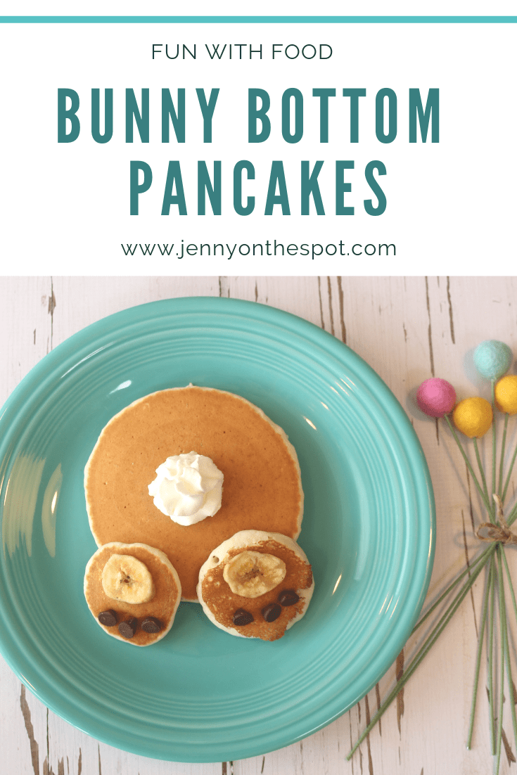 Bunny Bottom Pancakes #funwithfood #pancakes #Easter #breakfast