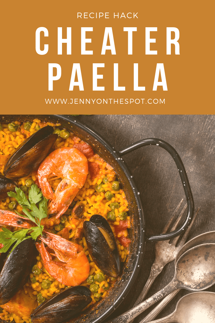 Cheater Paella Recipe #paella #easydinner #quickdinner