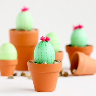 Cactus Easter Eggs - Easter Egg Decorating Inspiration