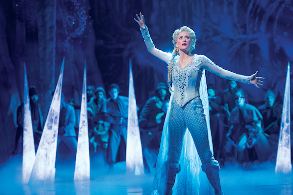 Caissie Levy as Elsa in FROZEN. Photo by Deen VanMeer. Copyright Disney