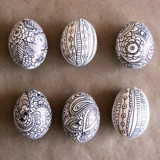 Easter egg doodles - Easter Egg Decorating Inspiration